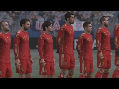 EA SPORTS FIFA 16 - USA v Spain Gameplay (Snow) [1080p 60FPS HD]