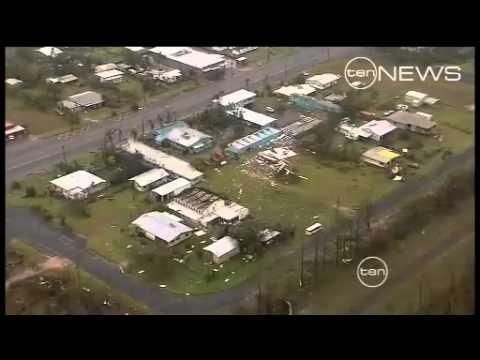 TEN NEWS Queensland Friday night CYCLONE News