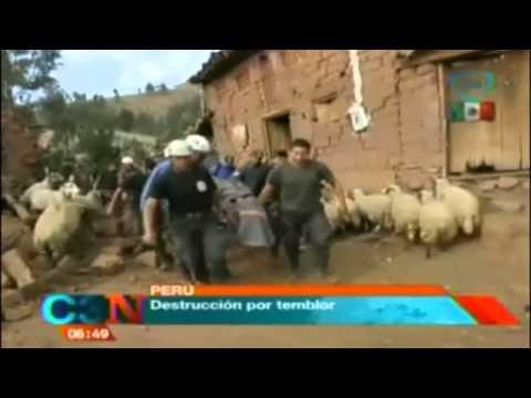 Impresionantes imágenes del temblor en Perú