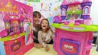 Elif için yeni prenses mutfak seti açıyoruz, eğlenceli çocuk videosu