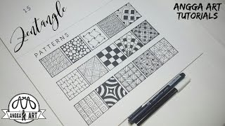 15 Zentangle Patterns | Angga Art Tutorials