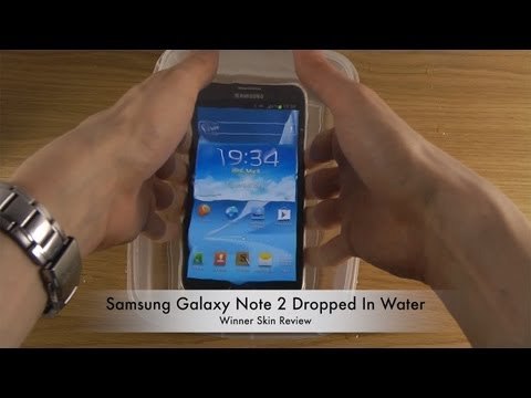 Samsung Galaxy Note 2 Dropped In Water - Winner Skin Review