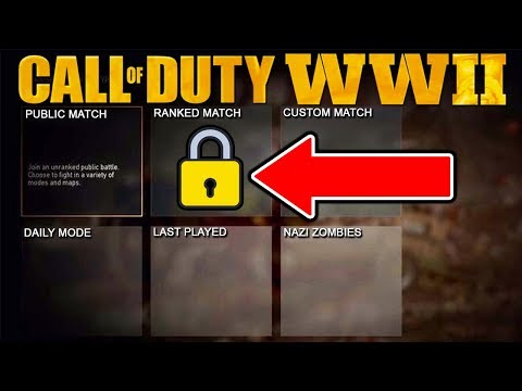 Call of Duty: WW2 MENU REVEALED - Ranked Match, Daily Mode