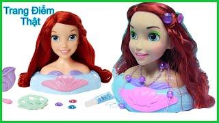 Đồ Chơi Trẻ Em - Búp Bê Nàng Tiên Cá Ariel - Trang Điểm Gội Đầu Làm Tóc Cho Búp bê - chị bí đỏ