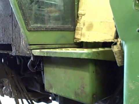 John Deere 4230 cold start and fixing the broken frame bolts