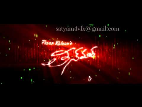 Pavan Kalyan Teenmar Title Logo By Satyam video