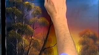 Bob Ross -  Malerei goldenen Sonnenuntergang - Malerei Video