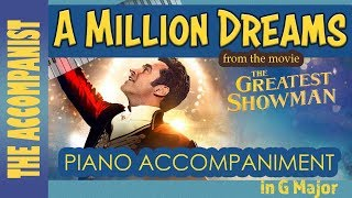 A Million Dreams From The Movie The Greatest Showman Piano Accompaniment Karaoke