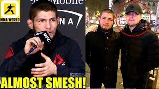 Khabib almost landed on Leonardo DiCaprio during UFC 229 Post Fight Antics,Ali on Conor McGregor