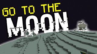 Minecraft: GO TO THE MOON! (Custom Map/Only One Command)