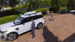 GTA 5 - Michael chạy xe sang Range Rover chở vợ con về thăm quê ở North Yankton   ND Gaming