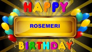 Rosemeri - Card Tarjeta_1170 - Happy Birthday