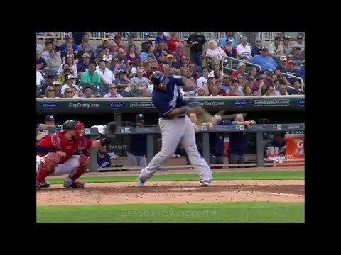 Jesus Aguilar Home Run Swing Slow Motion 2018-24