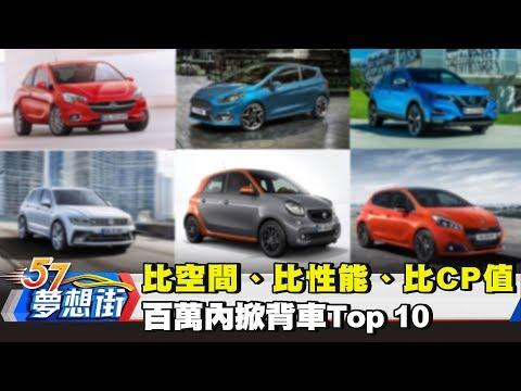 台灣-夢想街57號-20180301 比空間、比性能、比CP值 百萬內掀背車Top 10