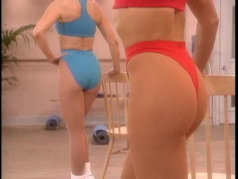 Working out in a Red Thong