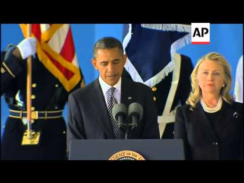 Obama honours victims of assault on US diplomatic mission in Libya