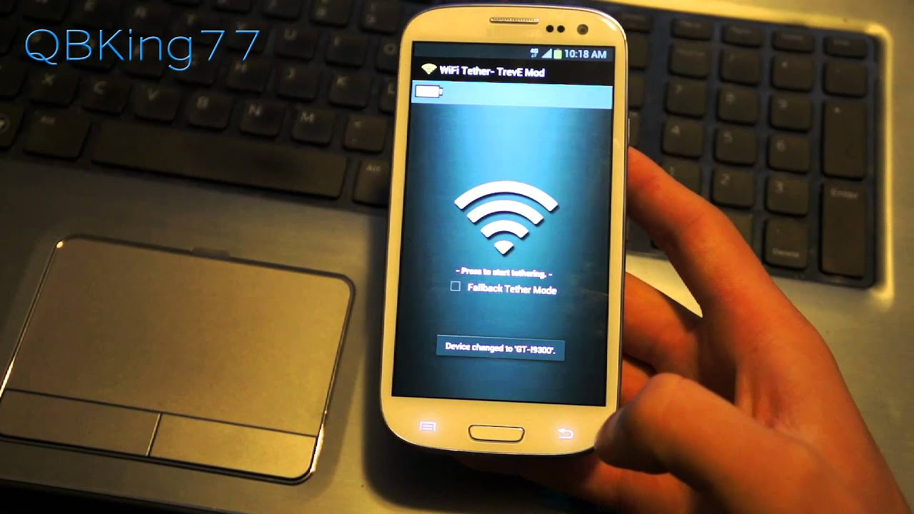 free wifi tether hotspot for the samsung galaxy s iii on