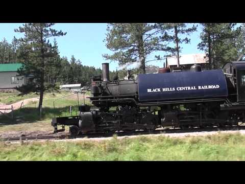 Pacing 2-6-6-2t Steam Locomotive 110 Hill City,SD