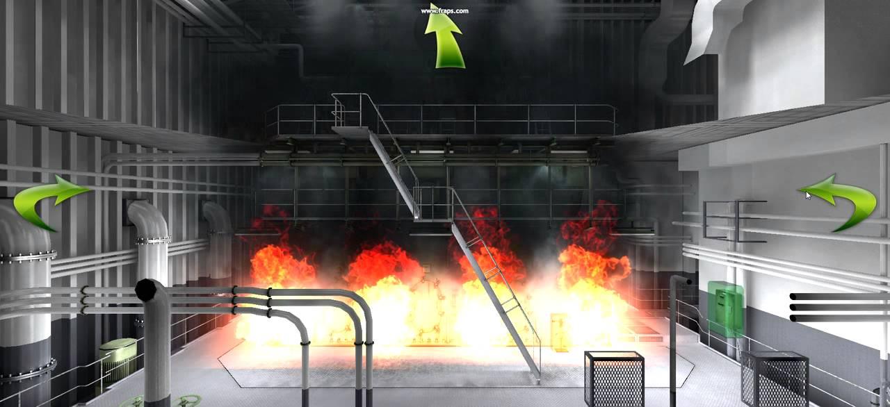 Engine room simulator 3d fire kongsberg maritime youtube for 3d room simulator
