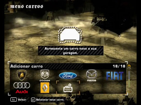 Need For Speed Most Wanted - Meus Carros