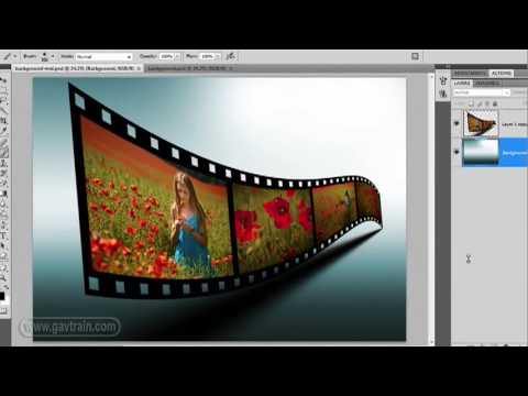 How to make a 3D film strip in Photoshop - Week 69
