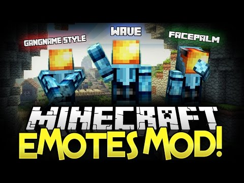 ★ Minecraft Mod ★ | EMOTES MOD • (Gangnam Style, Wave, Levitate, Exorcist) - Minecraft Mod Showcase