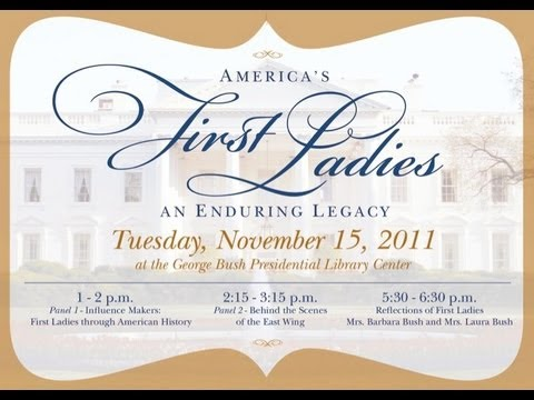 First Ladies Barbara Bush and Laura Bush