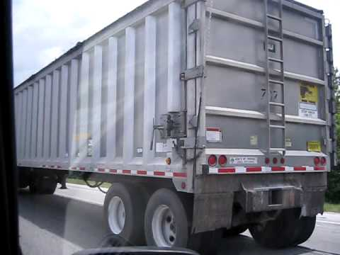Brevard County Transfer Truck (in traffic) 7-30-09