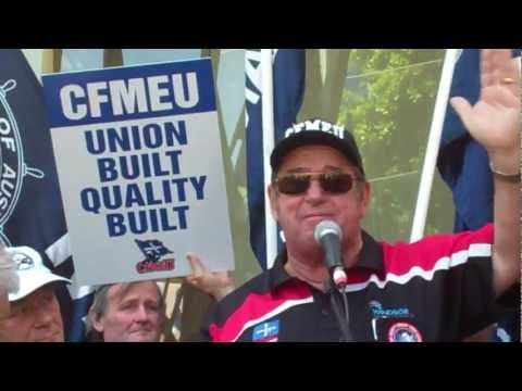 Union Protest against Chevron Corporation and Woodside