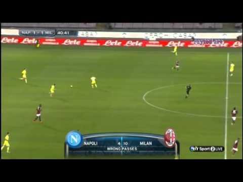 Gökhan Inler (Napoli) vs AC Milan.