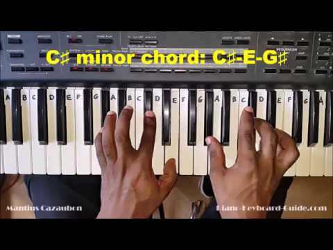 How to Play the C Sharp Minor Chord - C# Minor on Piano and Keyboard   C#m, C#min