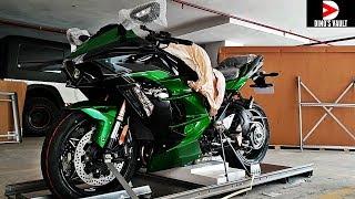 Kawasaki Ninja H2SX SE Unboxing Taking Delivery 1st in India #DinosVlogs