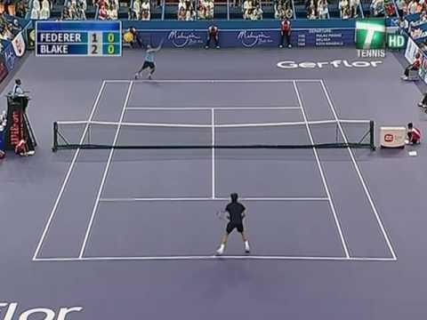 Showndown of Champions KL : Roger Federer vs James Blake (Highlights) Video