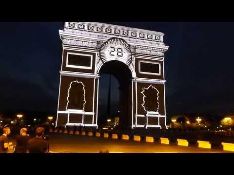 Arc de Triomphe pour la 100ème Arrivée Tour de France