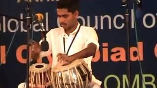 Vinit Pradeep Ingole Amravati performing Tabla at 6th cultural olympiad arts Festival Colombo 2016