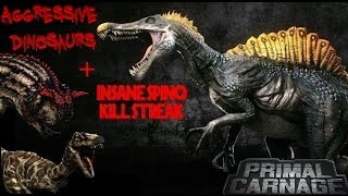 Primal Carnage | Aggressive Dinosaurs + My Longest Spinosaurus Killing Spree Ever (No Commentary)