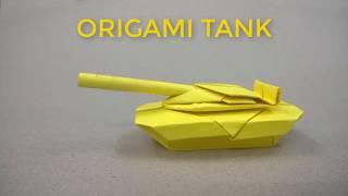 Origami Tank - Hướng dẫn gấp xe tăng bằng giấy