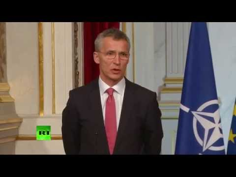 Point de presse Hollande-Stoltenberg à Paris