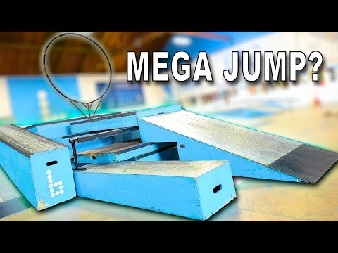 WE BUILT A MEGA LAUNCH IN OUR PRIVATE SKATEPARK!