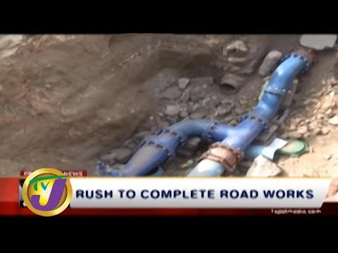 TVJ News: Rush to Complete Road Works - September 1 2019