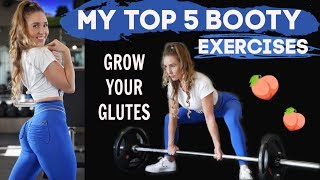 5 BEST BOOTY BUILDING EXERCISES | Full Workout, Glute Activation, Exercise Explanations, Supplements