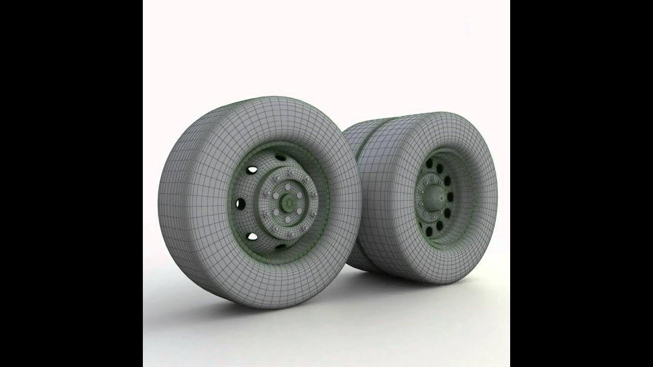 Wheel 3d Model 3d Model of Truck Wheels