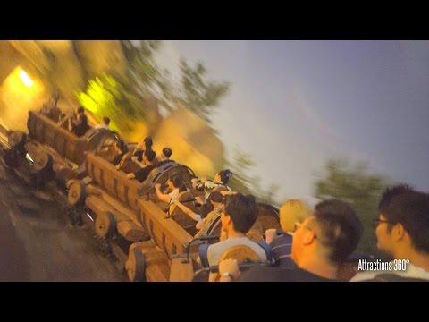 [4K POV] Shanghai Disneyland Seven Dwarfs Mine Train Coaster Ride at Night