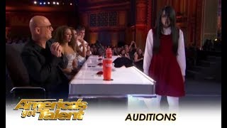 Sacred Riana: Famous CREEPY Girl Magician Comes To America! | America's Got Talent 2018