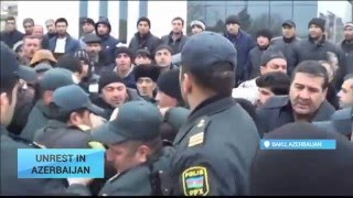 Unrest in Azerbaijan as Economic Conditions Worsen: Currency battered by plunging oil price
