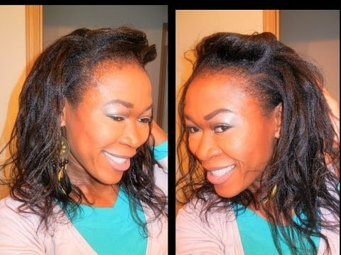 Hairstyles For Short Hair No Heat : WAVY HAIR WITHOUT HEAT. ~ NO HEAT HAIRSTYLE ~ - YouTube