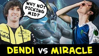 Dendi vs Miracle — FIRST time in 2018 in pub