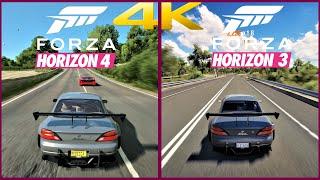 Forza Horizon 4 vs Forza Horizon 3 Comparison in 4K30 | Xbox One X Gameplay