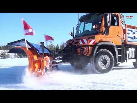 Bucher Municipal - Winterdienst Geräte im Einsatz