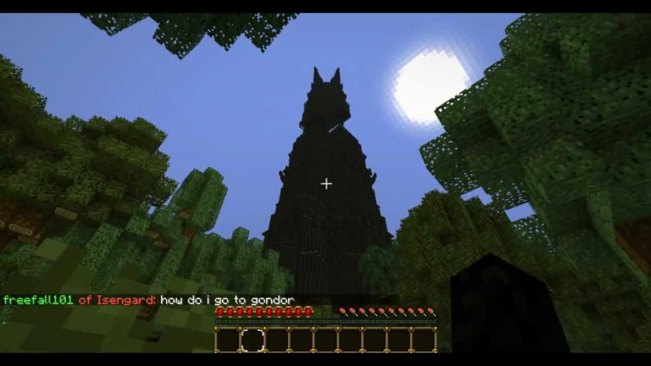 Minecraft Lord Of The Rings Server Middle Earth